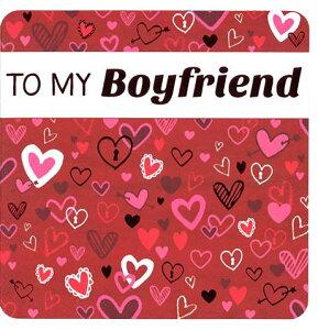 グリーティングカード 【バレンタイン】「ハート」【封筒サイズ/165×165mm】【封筒の色/赤】【中面/文字あり「Happy valentine's day!」】【箔押し加工あり】【角丸】(VDII-0008)
