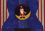 ポストカード【クリスマス/イラスト】山田和明「ChristmasintheRecord」【148×100mm】(KY722)