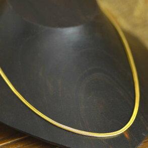 シルバー925ゴールドカラーデザインチェーン(幅2.3mm)