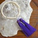 ホワイトピンク珊瑚片手念珠