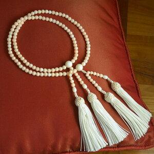 【エントリーでポイント最大19倍】正絹ミス 珊瑚 サンゴ さんご 数珠