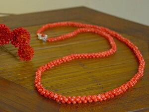 赤珊瑚 サンゴ さんご 【日本産】 グラデーション ネックレス