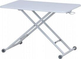 【大型商品】 ガス圧昇降テーブル90×60高さ70cmまでPU塗装-WH74709