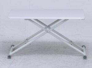 【大型商品】ガス圧昇降テーブル90×60PU塗装-WH74709