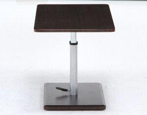 昇降式センターテーブルキャスター付ブラウン905010497<ローテーブル座卓テーブル高さ調整つくえ机>