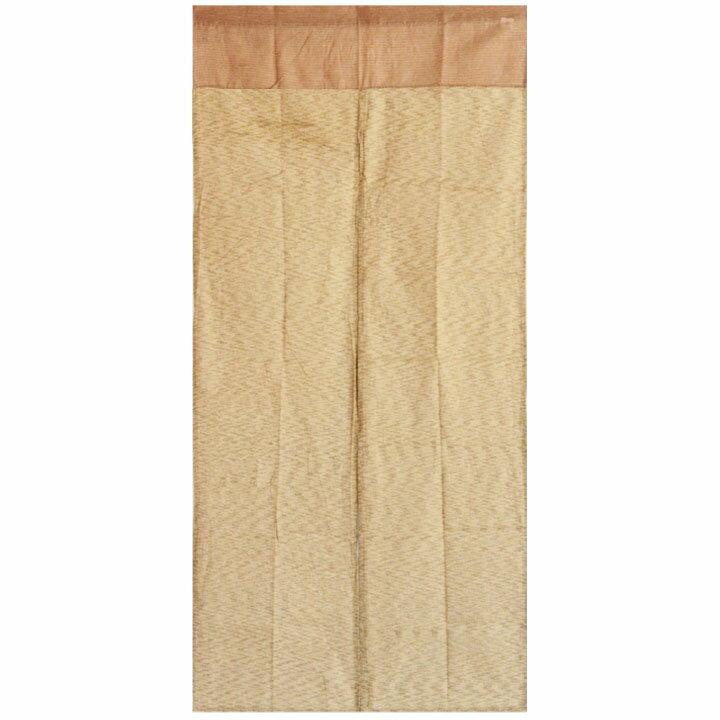 送料無料 和風 綿のれん しじら織 マスタード 85×175cm too21531  <ロングサイズ 暖簾 脱衣所 洗面所 間仕切り からし色 和柄 noren パーテーション>