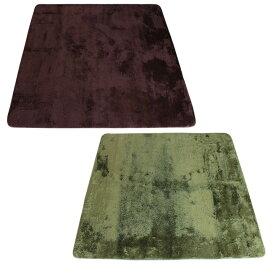 シャギー ラグ 185×185cm パレス  <カーペット じゅうたん 絨毯 ふわふわ ふかふか さらさら リビング ダイニング オールシーズン>