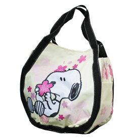スヌーピー バルーントート 桜たくさん  <ピーナッツ ウッドストック snoopy PEANUS キャラクター バッグ トートバッグ トラベルバッグ カバン 鞄 かわいい 手提げ 大きい 大容量>