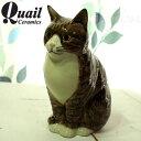【猫の貯金箱・置物】MILLIE キジ白【イギリスQuail Ceramics クウェイル・セラミックス】(猫雑貨 猫グッズ ネコ雑貨 ねこ柄 キャッ…