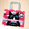 【トートバッグ】パピエクリチャーランド黒猫Mioバゲット(ランチバッグ猫雑貨猫グッズネコ雑貨ねこ柄キャット)
