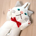 ティッシュケース・白猫ターチャン ぬいぐるみ型ティッシュボックスカバー(ティッシュボックスケース 猫雑貨 ねこ雑貨 ネコ雑貨 猫グ…