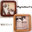 猫の電波時計 置時計兼壁掛け時計 Manhattaner's - マンハッタナーズ(ウォールクロック 掛時計 置時計 ギフト 新築祝 結婚祝 猫雑貨…