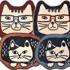 猫顔猫型チェアマットネコザワさんマチルダさんダイカットマットマットミニマット足ふきマット玄関マットキッチンマットバスマットラグダイカットマットかわいいおしゃれギフトプレゼント猫雑貨猫グッズネコ雑貨ねこ柄ネコグッズキャット