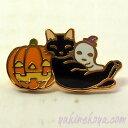 猫ピンズ ハロウィン 黒猫★ポタリングキャット(ピンバッチ 猫雑貨 ネコグッズ ねこ キャット)