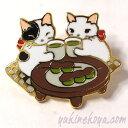 猫ピンズ 草だんご★ポタリングキャット(ピンバッチ 猫雑貨 ネコグッズ ねこ キャット)