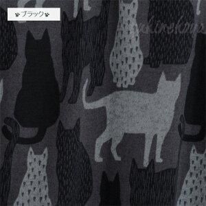 【猫柄前開きワンピース】ミミ【PORINA】(ロングカーディガン・ひざ丈)(長袖猫デザイン洋服ドレス猫雑貨ネコグッズねこキャット)