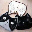 【猫クッション】トリオキャット 猫顔ふわふわチェアシート★ノアファミリー(シートクッション チェアクッション 黒猫・とら猫・ハチ…