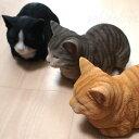 猫の置物 香箱猫ミニ 茶トラ猫・灰トラ猫・ハチワレ猫【野川農園】(オーナメント ガーデニング ポリレジン製 猫雑貨 猫グッズ ネコ…