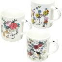 【猫のマグカップ】Cat Chips(キャットチップス) Rabbit & Flowers(ラビット&フラワー)【日本製】(吉沢深雪 猫雑貨 ネコグッズ …