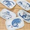 【猫のお皿】やんちゃ猫角皿・ばら売り【岡本肇】(日本製瀬戸焼和風和陶器長角皿取り皿猫雑貨ネコグッズねこキャット)
