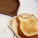 【猫のお皿】かりふわトーストプレート★デコレ(DECOLE)(猫雑貨 猫グッズ ネコ雑貨 ねこ柄 キャット)