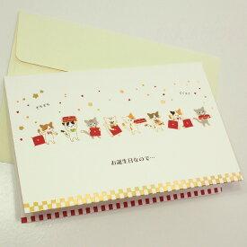 【猫のグリーティングカード】猫のポップアップ・飛び出すグリーティングカード ちまにゃん★お誕生日なので・・・(誕生日祝い)【サンリオ】封筒付き(メッセージカード 猫雑貨 ネコグッズ ねこ キャット)EC