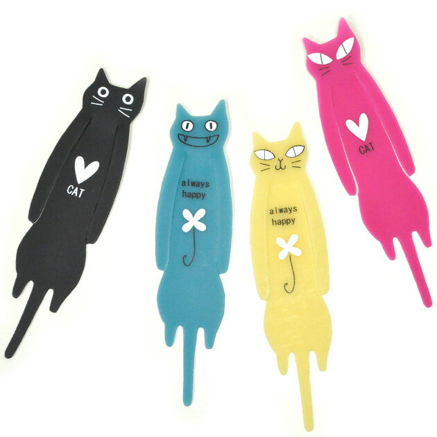 猫のしおり・脱力ゆる猫 ブックマーカー★ノアファミリー(しおり 栞 ブックマーク 猫雑貨 ネコグッズ ねこ キャット)