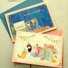 【猫のグリーティングカード】猫のポップアップ・飛び出すグリーティングカード誕生日こねこ・銀河鉄道【FORON】(メッセージカード猫雑貨ネコグッズねこキャット)EC
