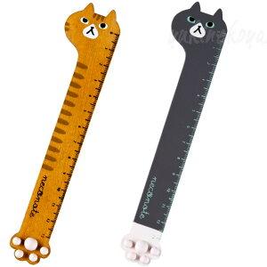 【猫の定規】肉球マッサージ定規★デコレ(DECOLE)neconote(木製猫雑貨ネコグッズねこキャット)