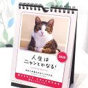 【2020年・猫のカレンダー「人生はニャンとかなる!」【ラッキーシール対応】(週めくり・卓上・壁掛け兼用)(猫雑貨 猫グッズ ネコ雑…