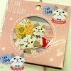 ネコ柄フレークシール白猫ターチャン(8柄×4枚32枚入り)(猫雑貨ネコグッズねこキャット)EC