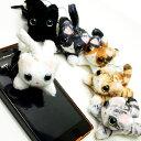【猫のストラップ】RonRon(ロンロン)飛び猫ストラップ(イヤホンピン付き)(イヤホンジャックアクセサリー 携帯ストラップ 猫雑貨 …
