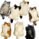 【猫のストラップ】でぶ猫ストラップ(イヤホンピン付き)(イヤホンジャックアクセサリー 根付 携帯ストラップ スマホストラップ 猫雑…