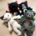 【在庫限り】猫のぬいぐるみ Scratchスクラッチ Sサイズ 米田民穂(黒猫 灰色猫 三毛猫 ハチワレ 猫雑貨 ネコグッズ ねこ キャット)