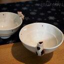 猫よじのぼり茶碗【有田焼・菊祥】(飯碗 椀 和風 和陶器 猫雑貨 ネコグッズ ねこ キャット)