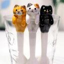 【猫のスプーン】猫よじのぼりスプーン★デコレ(DECOLE)(黒猫 トラ猫 三毛猫 猫雑貨 ネコグッズ ねこ キャット)