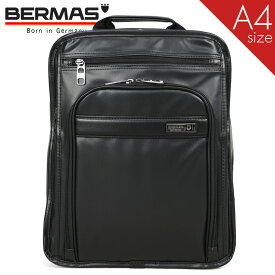 リュック バックパック メンズ BERMAS バーマス インターシティ 2室 A4 PC対応 撥水 通勤 ビジネスリュック リュックサック 出張 通勤カバン 大容量 キャリーオン ブラック メンズバッグ バッグ ブランド プレゼント 鞄 かばん カバン bag (60462) men's