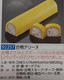 合鴨テリーヌ 1本(約280g)(L19×W4×H3cm)×30本(本700円税別)冷凍 オードブル ビストロ フレンチ業務用 ヤヨイ