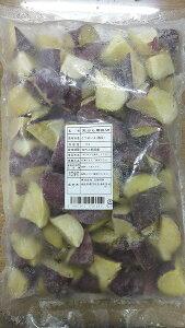 国産 さつまいも(鳴門金時)乱切り 1kg(約40個)×10P(P1640円税別) 冷凍 天ぷらに人気です。 業務用 ヤヨイ