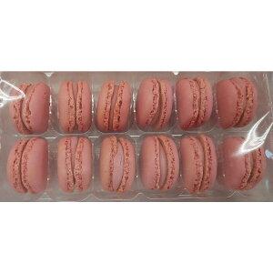 冷凍 マカロン ストロベリー 1箱(12個×3P)×9箱(箱2,952円税別) 業務用 ヤヨイ 冷凍 他にチョコレート、ピスタチオ、バニラ、レモン取り扱いあります。