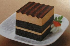フレック スクエアポーションケーキ(ショコラ) (約36g×10個)×12箱(箱1120円税別) 冷凍ケーキ 業務用 ヤヨイ