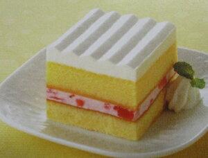 フレック スクエアポーションケーキ(いちご) (約39g×10個)×12箱(箱1120円税別) 業務用 冷凍ケーキ ヤヨイ