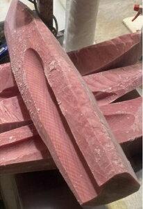 人気No.1商品 冷凍 キハダマグロスキンレス  上赤身 血合い皮なし 約16kg(kg3250円税別)業務用 ヤヨイ
