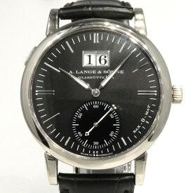 【期間限定ポイント3倍 9/21〜9/26】 ランゲ&ゾーネ A.LANGE & SOHNE ランゲマティック デイト 308.027 ブラック文字盤 中古 腕時計 メンズ