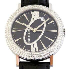 ブシュロン BOUCHERON ロンド オートマチック ベゼルダイヤ WA010308 ブラック文字盤 新品 腕時計 メンズ