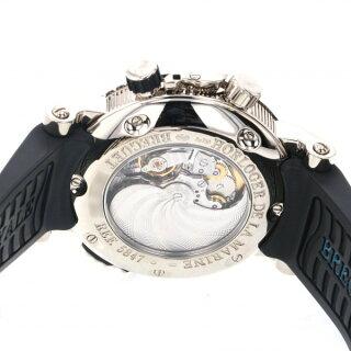 ブレゲBREGUETマリーンロイヤル5847BB/12/5ZVシルバー文字盤メンズ腕時計【中古】