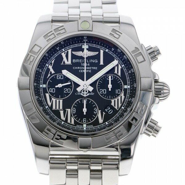 ブライトリング BREITLING クロノマット44 AB0110 ブラック文字盤 メンズ 腕時計 【中古】