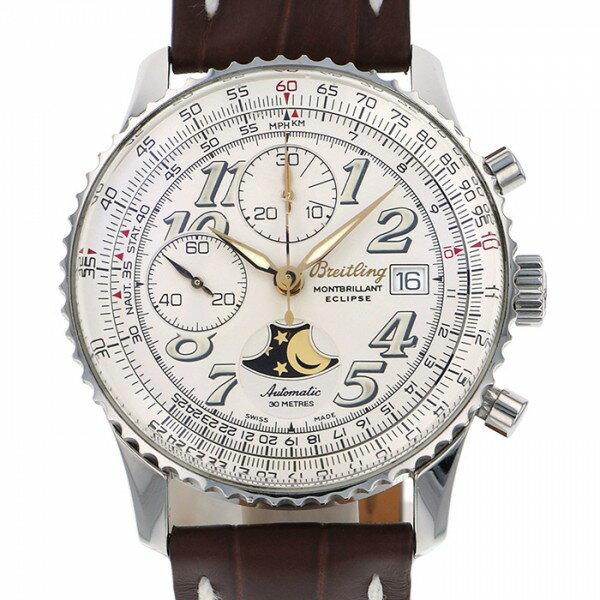 ブライトリング BREITLING ナビタイマー モンブリラン エクリプス A43030 ホワイト文字盤 メンズ 腕時計 【中古】