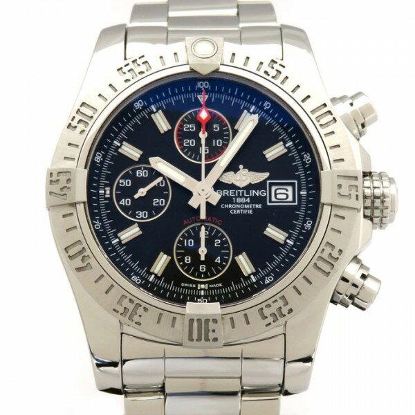 ブライトリング BREITLING アヴェンジャーII A13381 ブラック文字盤 メンズ 腕時計 【中古】