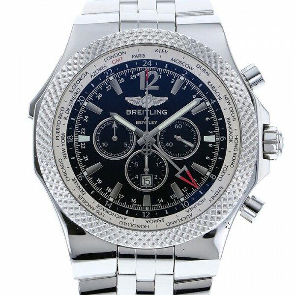 ブライトリング BREITLING ベントレー GMT A476B19SGS ブラック文字盤 メンズ 腕時計 【中古】